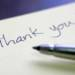 The Thank You Note:  Here's to you